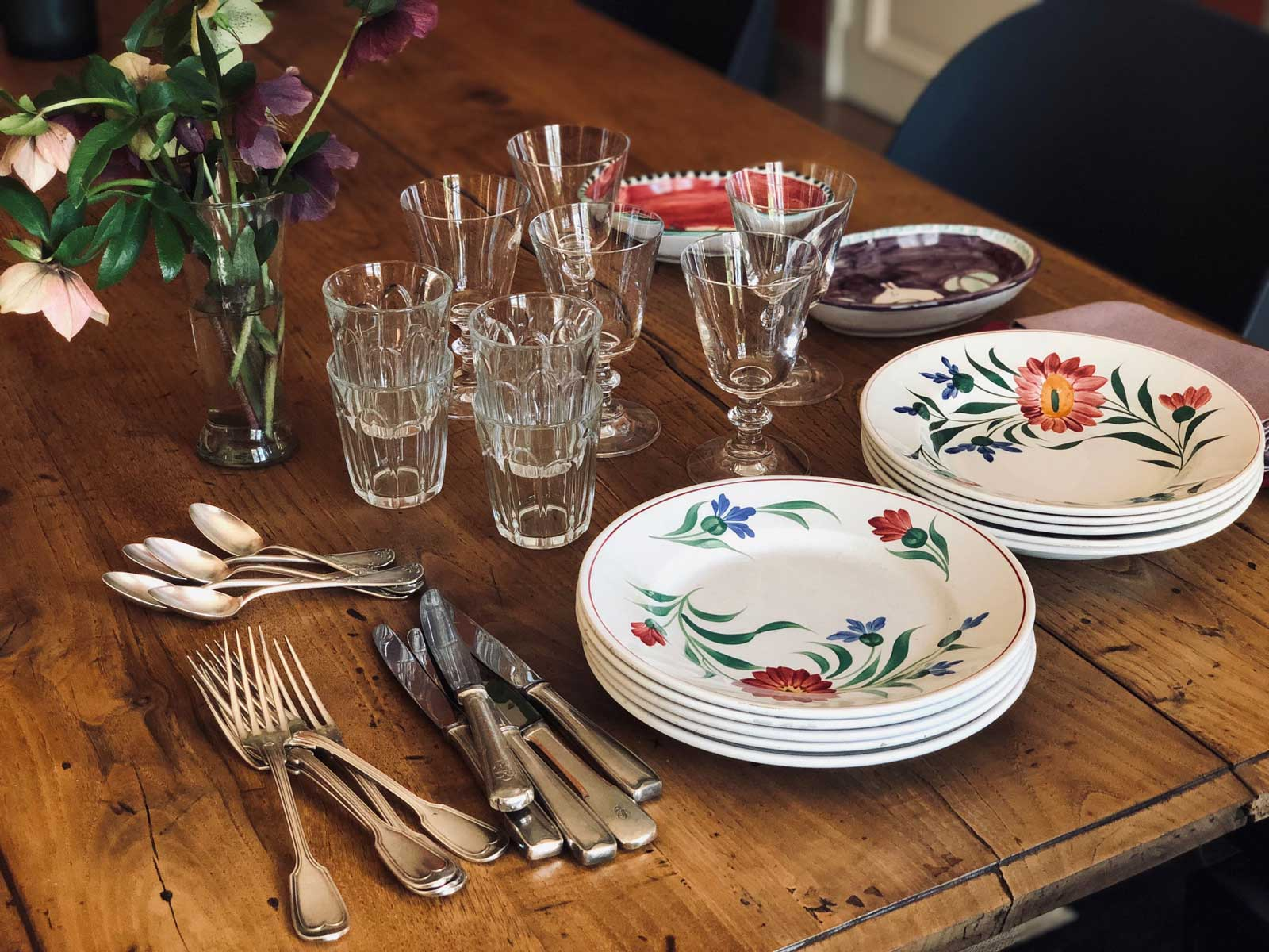tutorial table setting French style
