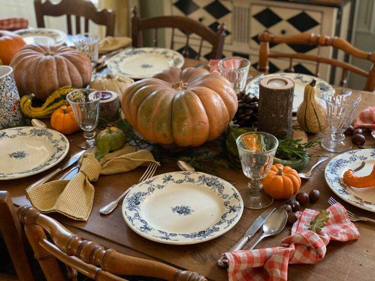 table d'automne vintage fall rustic decor French style